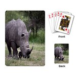 Wild Animal Rhino Playing Cards Single Design
