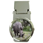 Wild Animal Rhino Money Clip Watch