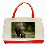 Wild Animal Rhino Classic Tote Bag (Red)