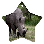 Wild Animal Rhino Star Ornament (Two Sides)
