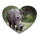 Wild Animal Rhino Mousepad (Heart)