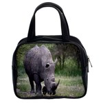 Wild Animal Rhino Classic Handbag (Two Sides)