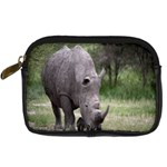 Wild Animal Rhino Digital Camera Leather Case