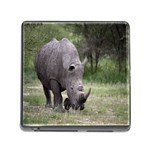 Wild Animal Rhino Memory Card Reader with Storage (Square)