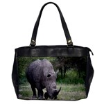 Wild Animal Rhino Oversize Office Handbag (One Side)