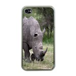 Wild Animal Rhino Apple iPhone 4 Case (Clear)