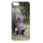 Wild Animal Rhino Apple iPhone 5 Seamless Case (White)