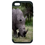 Wild Animal Rhino Apple iPhone 5 Hardshell Case (PC+Silicone)