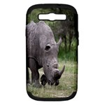 Wild Animal Rhino Samsung Galaxy S III Hardshell Case (PC+Silicone)