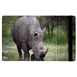 Wild Animal Rhino Apple iPad 2 Flip Case