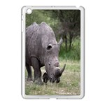 Wild Animal Rhino Apple iPad Mini Case (White)