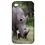 Wild Animal Rhino Apple iPhone 4/4S Hardshell Case (PC+Silicone)