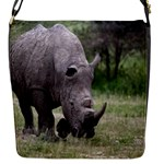 Wild Animal Rhino Flap closure messenger bag (Small)