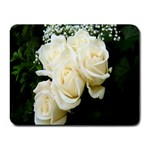 White Rose Small Mousepad