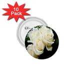 White Rose 1.75  Button (10 pack)