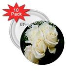 White Rose 2.25  Button (10 pack)