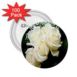 White Rose 2.25  Button (100 pack)