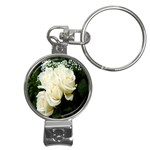 White Rose Nail Clippers Key Chain