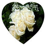 White Rose Jigsaw Puzzle (Heart)