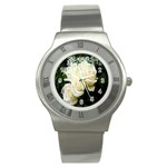 White Rose Stainless Steel Watch
