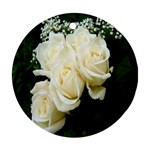 White Rose Round Ornament (Two Sides)