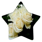 White Rose Star Ornament (Two Sides)