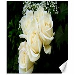 White Rose Canvas 8  x 10