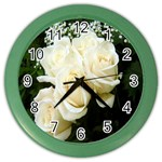 White Rose Color Wall Clock