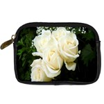 White Rose Digital Camera Leather Case