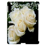 White Rose Apple iPad 3/4 Hardshell Case (Compatible with Smart Cover)