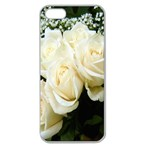 White Rose Apple Seamless iPhone 5 Case (Clear)