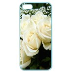 White Rose Apple Seamless iPhone 5 Case (Color)