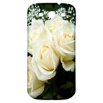 White Rose Samsung Galaxy S3 S III Classic Hardshell Back Case