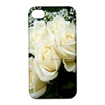 White Rose Apple iPhone 4/4S Hardshell Case with Stand