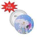 White Gerbera Flower Refresh From Rain 1.75  Button (10 pack)