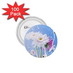 White Gerbera Flower Refresh From Rain 1.75  Button (100 pack)