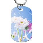 White Gerbera Flower Refresh From Rain Dog Tag (One Side)