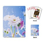 White Gerbera Flower Refresh From Rain Playing Cards Single Design