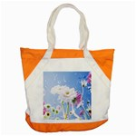 White Gerbera Flower Refresh From Rain Accent Tote Bag