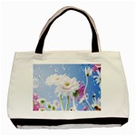 White Gerbera Flower Refresh From Rain Classic Tote Bag (Two Sides)