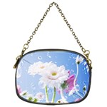 White Gerbera Flower Refresh From Rain Chain Purse (One Side)