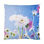 White Gerbera Flower Refresh From Rain Cushion Case (One Side)