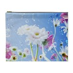 White Gerbera Flower Refresh From Rain Cosmetic Bag (XL)
