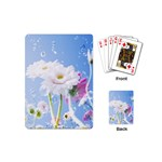White Gerbera Flower Refresh From Rain Playing Cards (Mini)