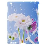 White Gerbera Flower Refresh From Rain Apple iPad 3/4 Hardshell Case (Compatible with Smart Cover)