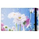 White Gerbera Flower Refresh From Rain Apple iPad 2 Flip Case