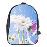 White Gerbera Flower Refresh From Rain School Bag (XL)