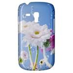 White Gerbera Flower Refresh From Rain Samsung Galaxy S3 MINI I8190 Hardshell Case