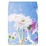 White Gerbera Flower Refresh From Rain Removable Flap Cover (Large)