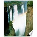 Zambia Waterfall Canvas 16  x 20